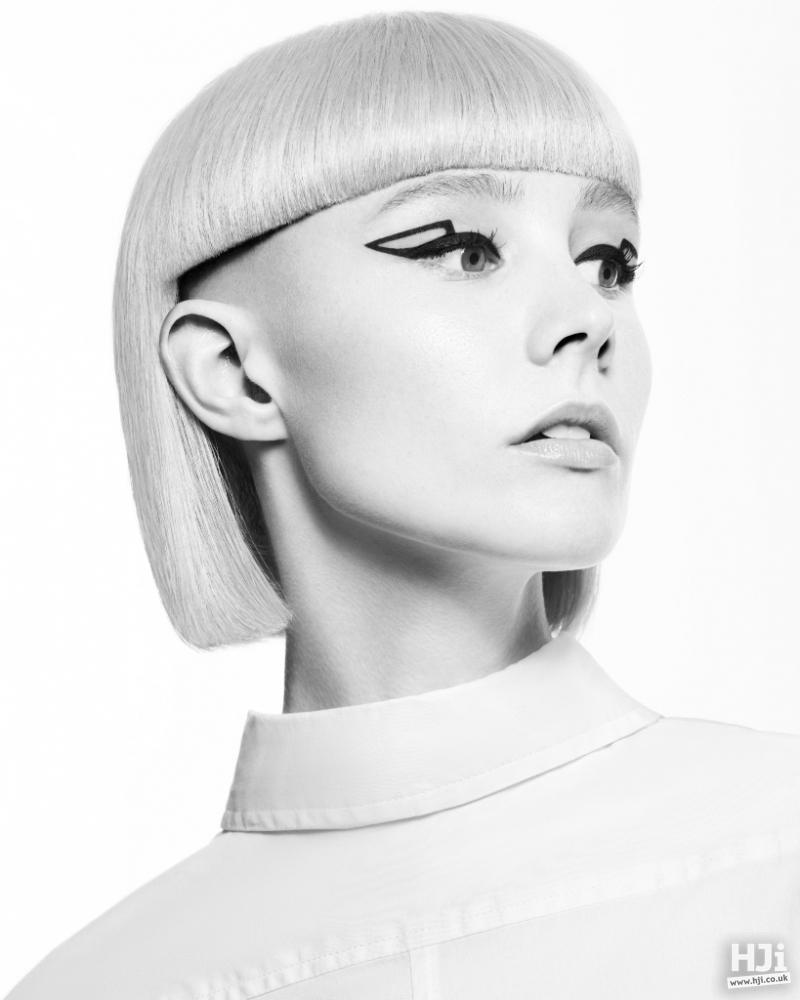 Blonde Avant-garde Geometric Shapes