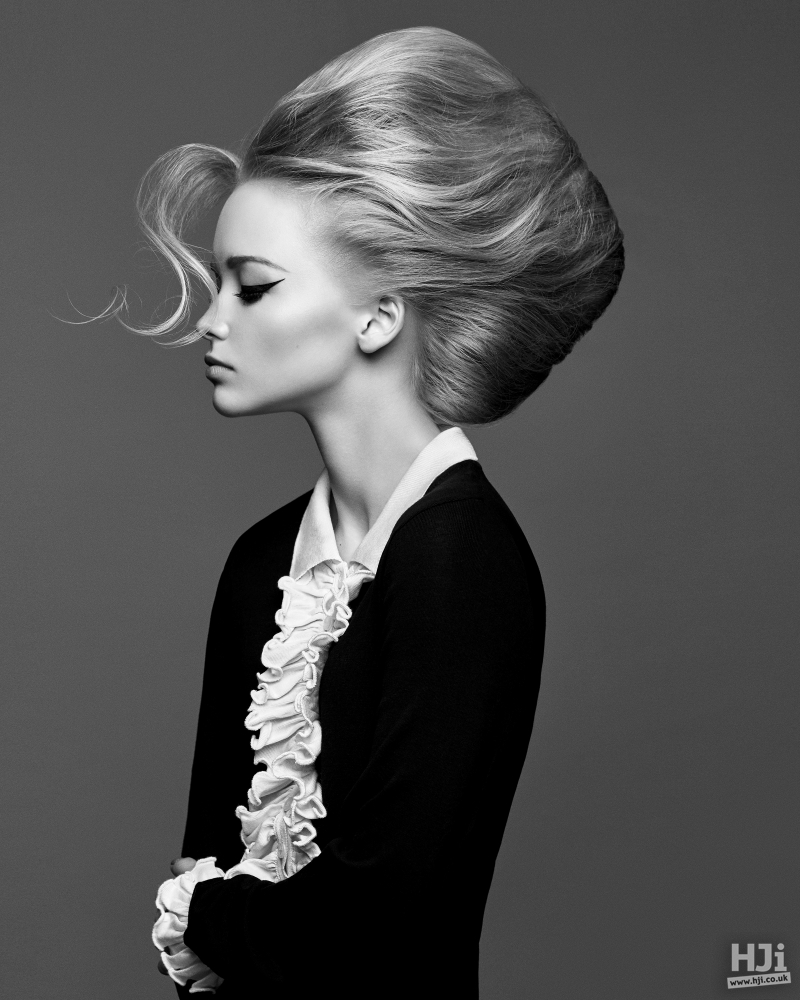 Sophisticated bouffant