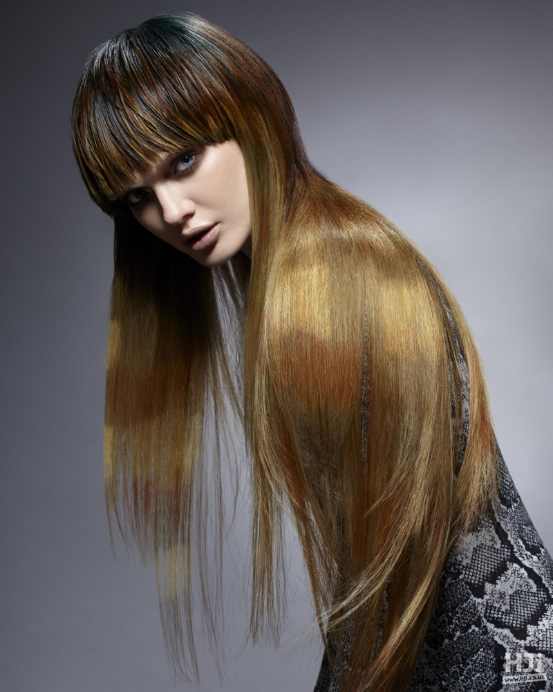 Wet to dry long hair
