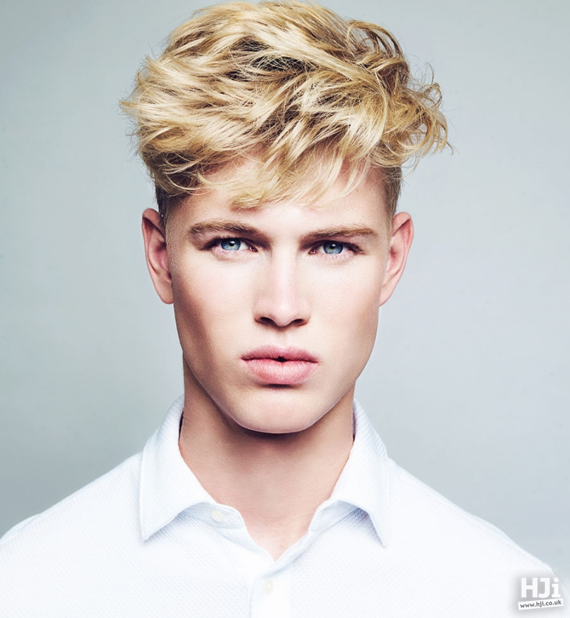 Short, blonde, layered cut