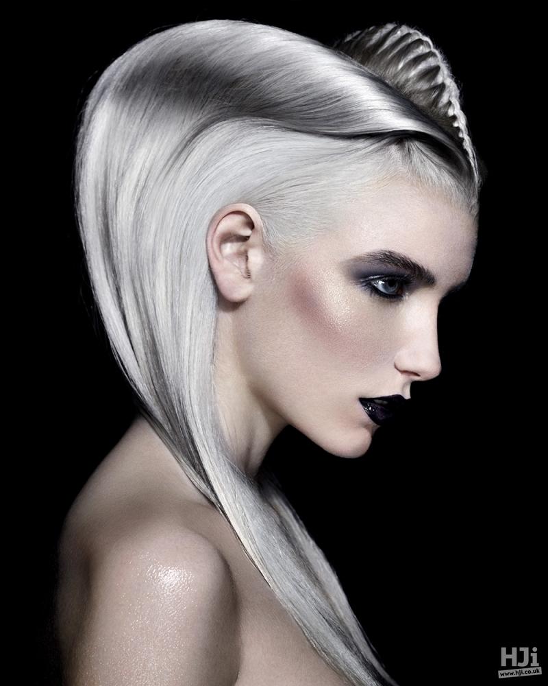 Creative long grey hair