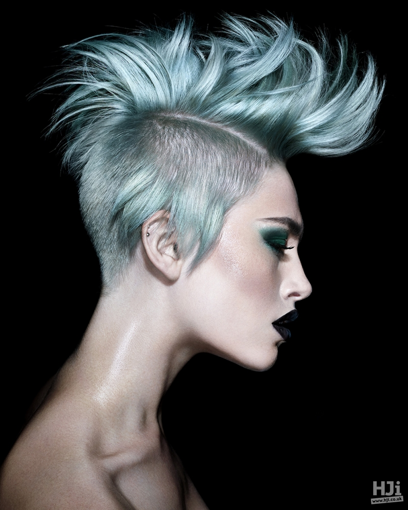 Creative colour mohawk