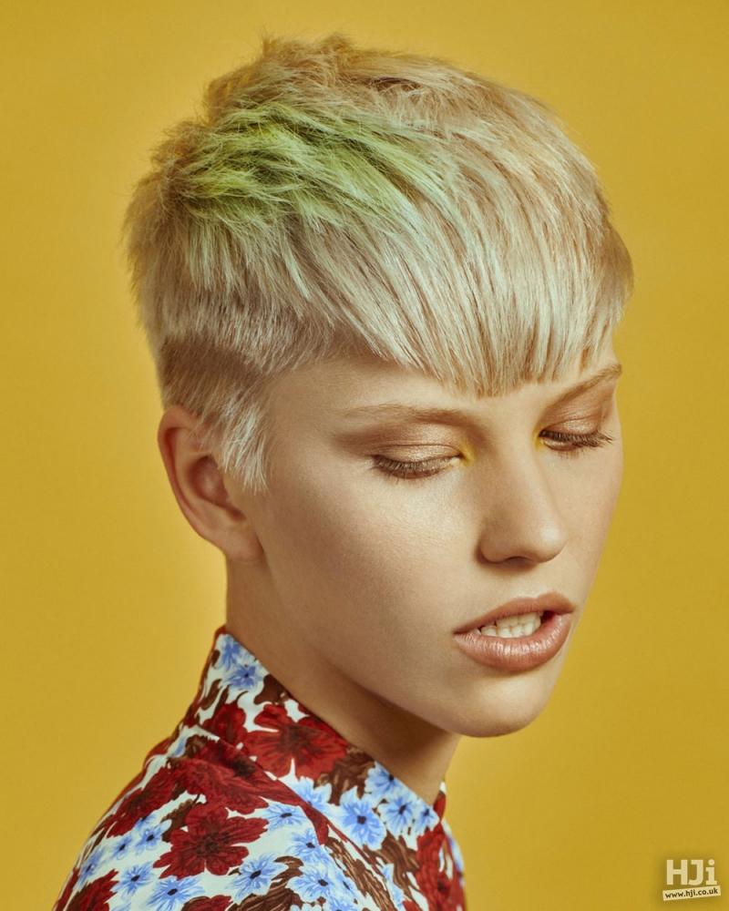 Blonde crop