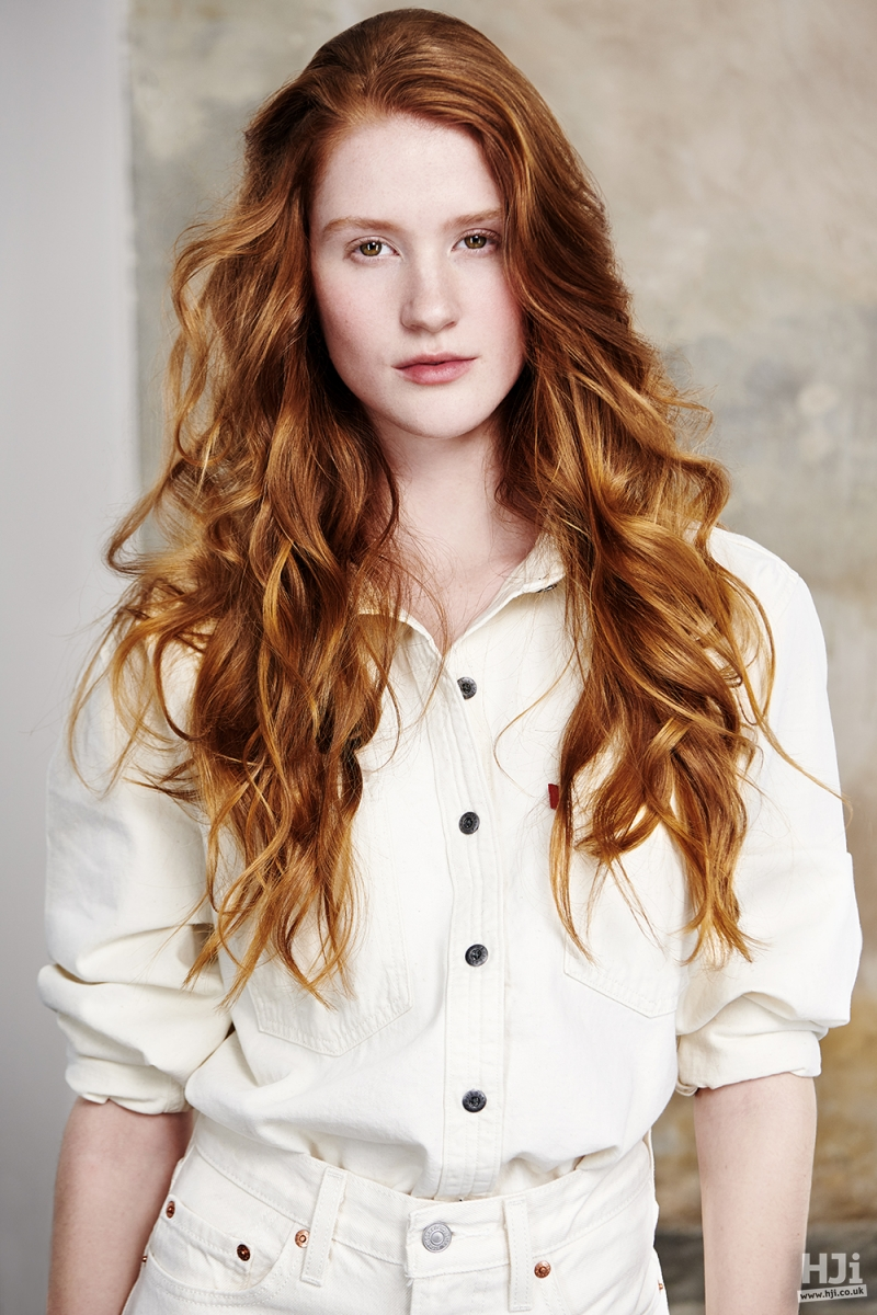 Natural curls in red hair