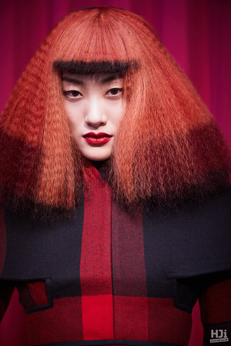 Red creative colour with crimping