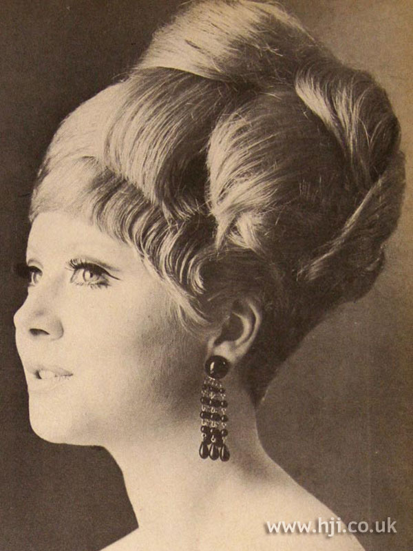 1966 Tall Updo Hairstyle Hji