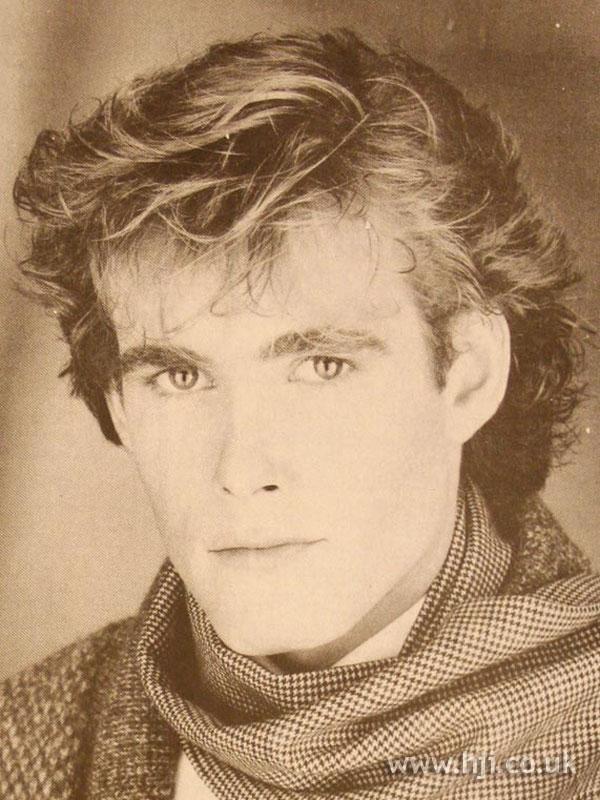 1984 Men Tousled Hairstyle Hji