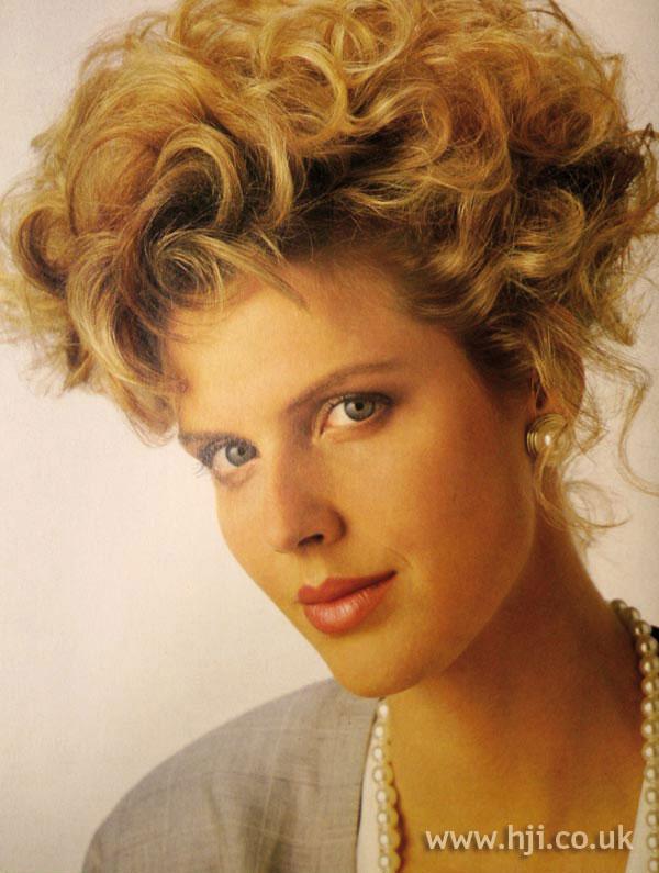 1986 Perm Updo Hairstyle Hji