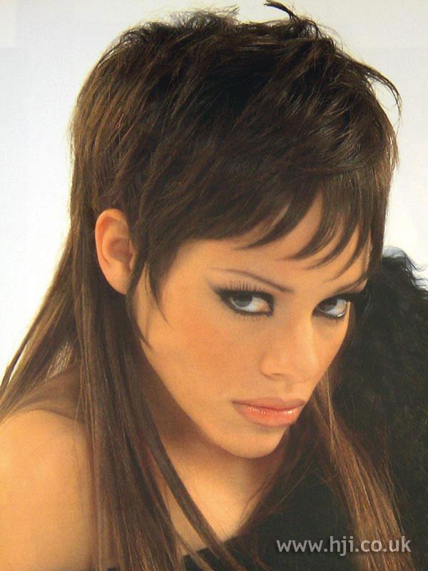 2002 brunette fringe hairstyle