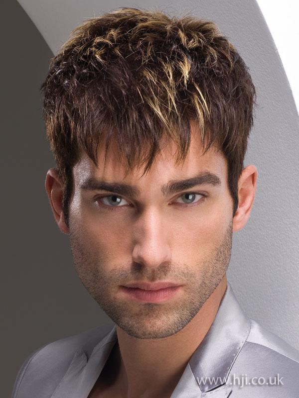 2009 men choppy hairstyle
