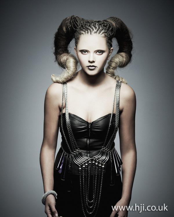 2012 Braided Avant Garde Updo Hairstyle Hji