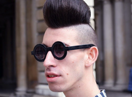 Short Back And Sides Combines With A Quiff For A Contrasting Style Hji