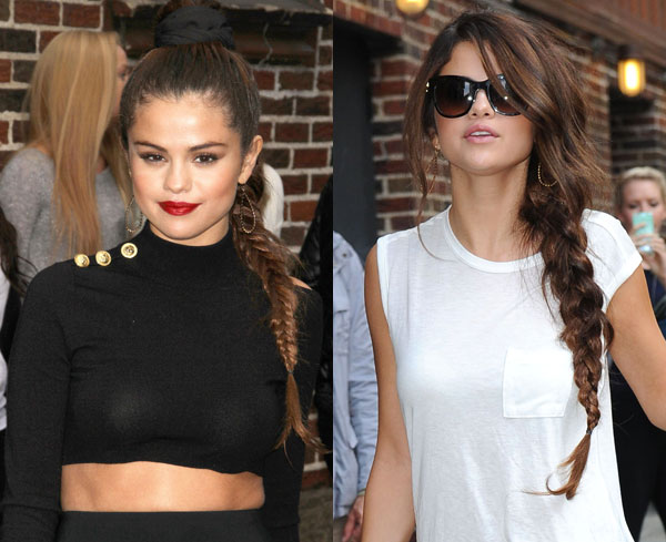 Selena Gomez braided hair