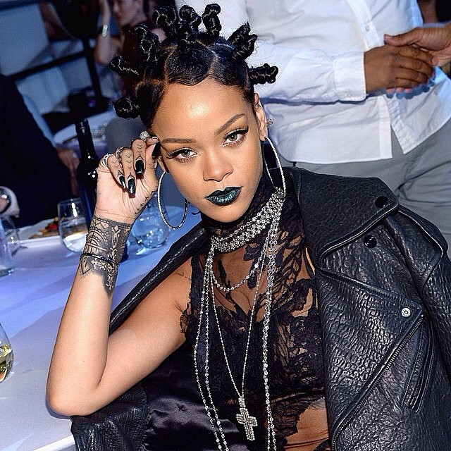 Rihanna Takes Rave Buns to the Red Carpet