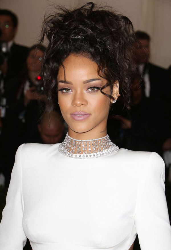 Celebrity updo hairstyles to inspire at the met gala hji rihanna hair up style at met gala 2014 pmusecretfo Images
