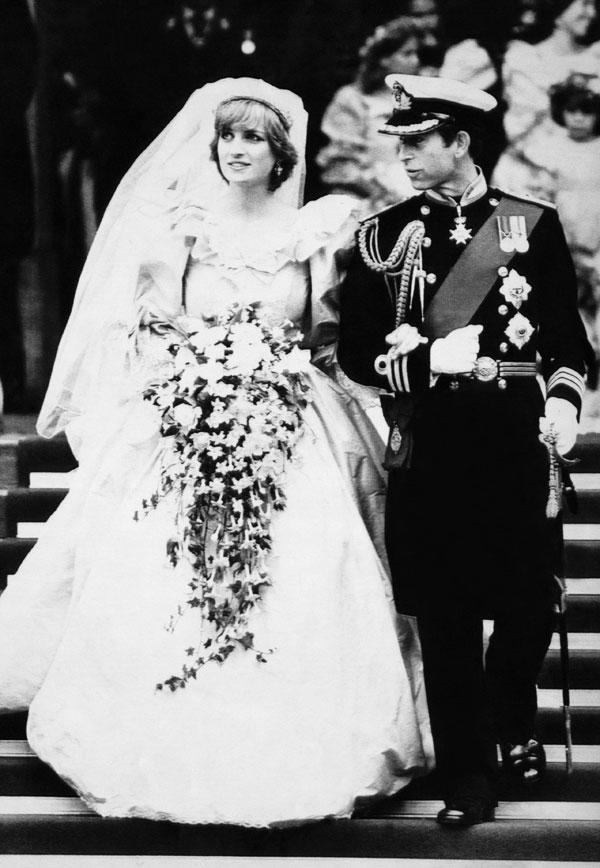 Most Memorable Wedding Hair: princess Diana