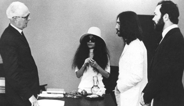 Most Memorable Wedding Hair: Yoko Ono