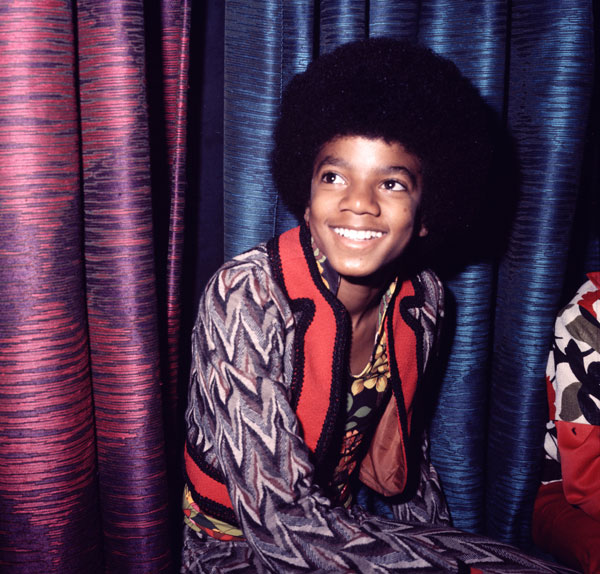 A young Michael in 1972 favouring a full, disco-friendly 'fro