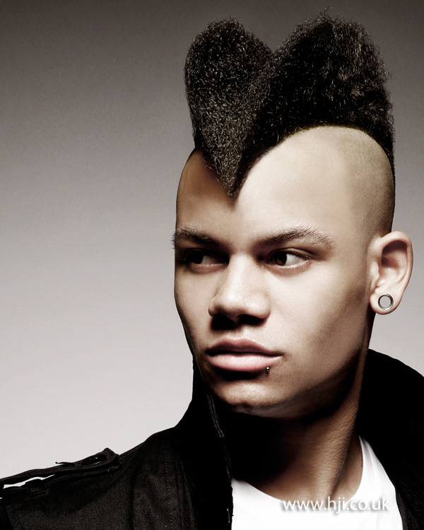 Strong Fade With Sculpted Mowhawk HJI - Mens hairstyle 2015 quiff