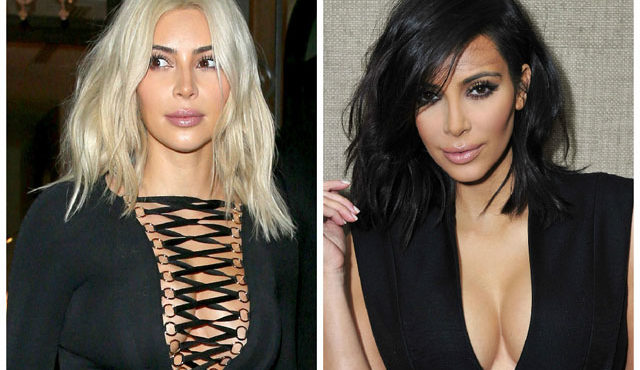 Kim Kardashian West - blonde back to brunette