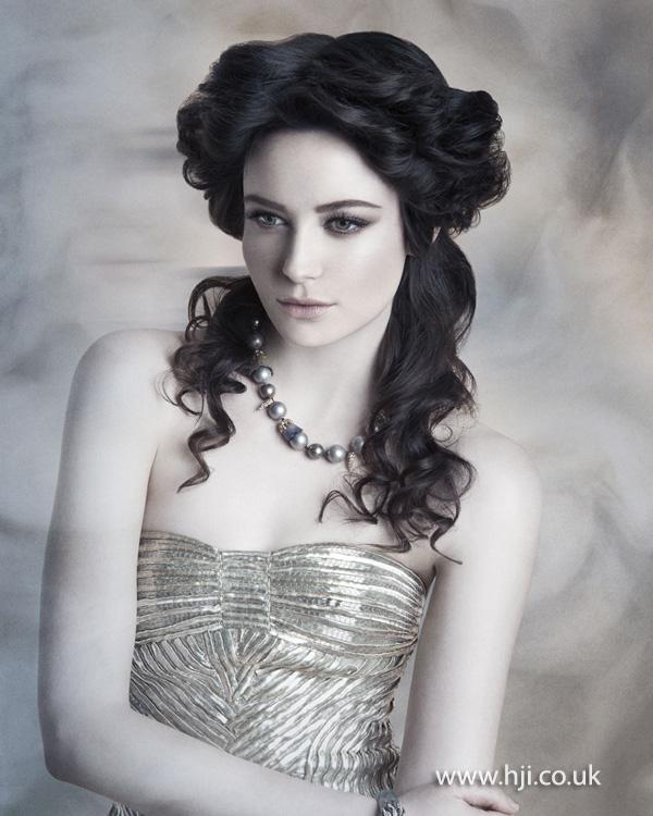 Wedding Hairstyles Brunette: 2015 Half Up Curly Brunette Bridal Hairstyle