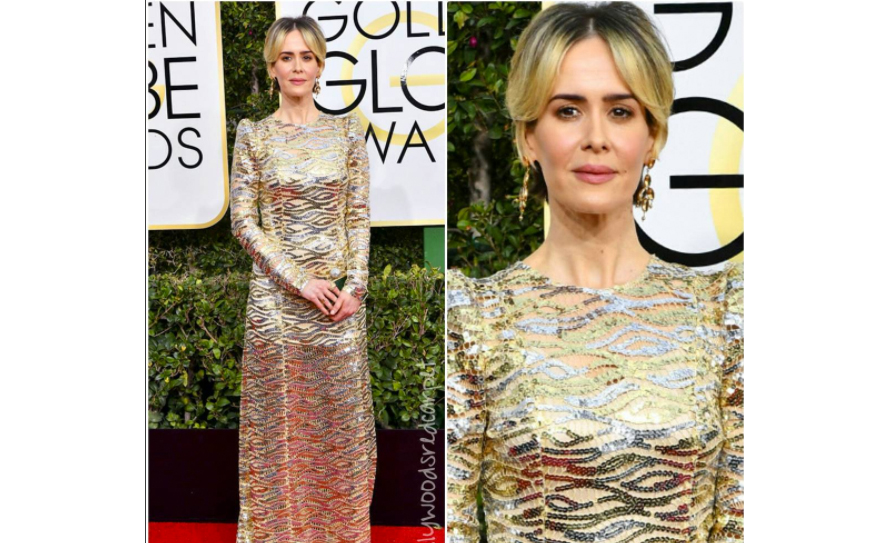Sarah Paulson at Golden Globes