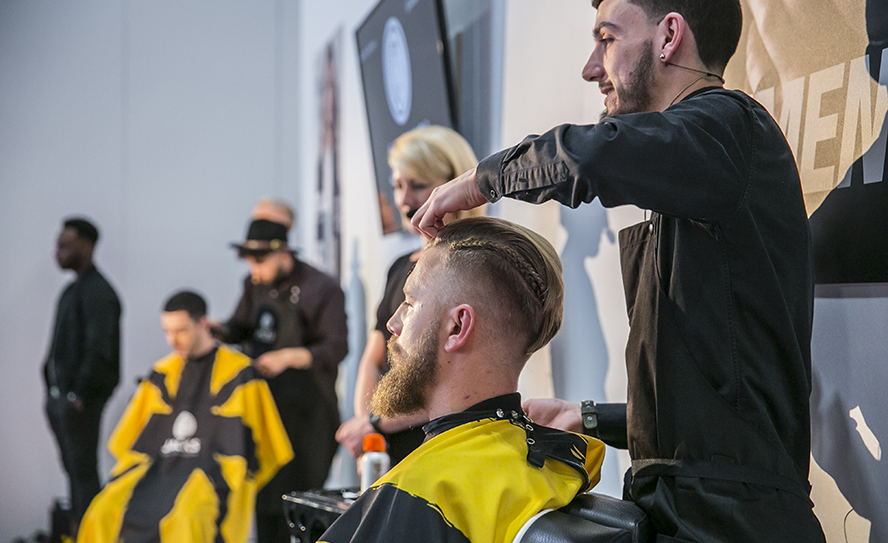 Men's hairdressing at Salon International
