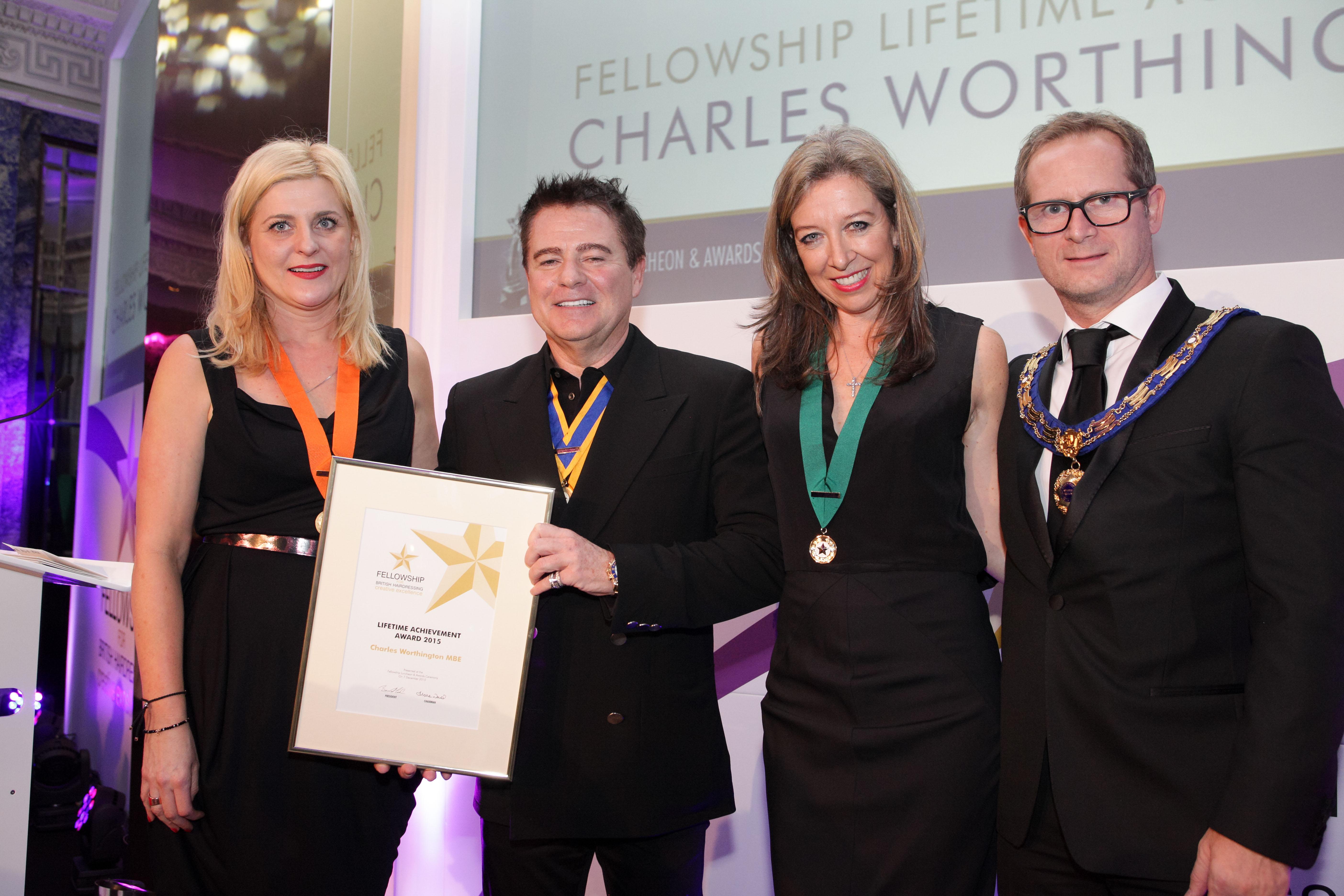 Charles Worthington lifetime achievement award