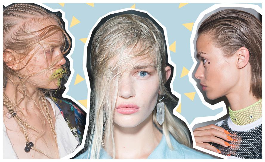 hair trends - wet look
