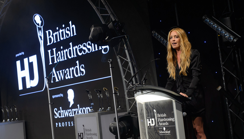 British Hairdressing Awards 2017 cat deeley