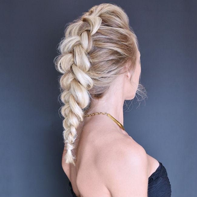 how to style a dutch braid with great lengths hji