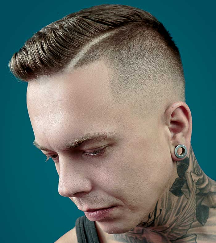 How To Cut And Style A Men S Medium Fade Haircut With Side Parting