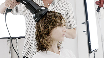 style a curly bob step 12