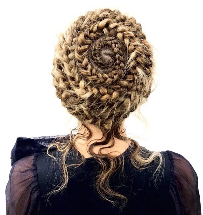 British Hairdresser of the Year Sally Brooks darcie harvey braid