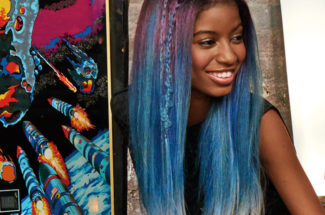 The Matrix artistic team created this stunning blend of colours on Afro-textured hair
