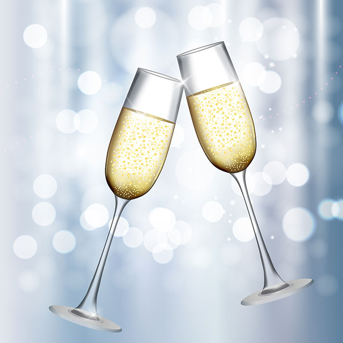 hj live north luxe ticket champagne glasses
