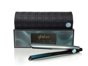 ghd glacial blue gold styler