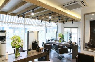 h&co hair salon interior shot
