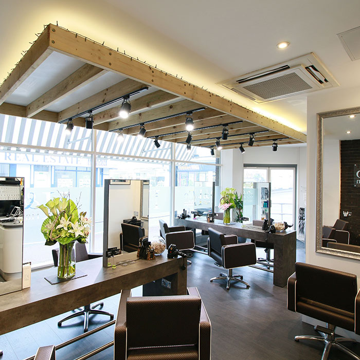h&co hair salon interior shot