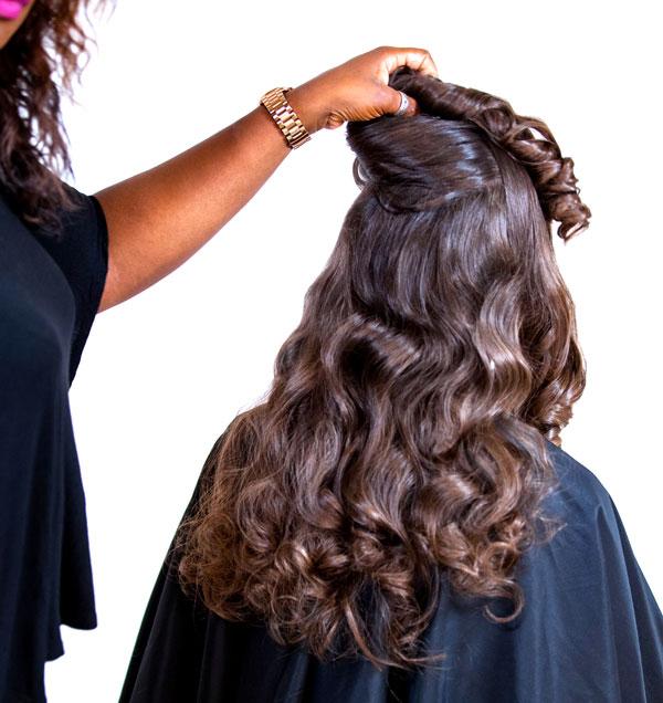 Avlon high ponytail waves