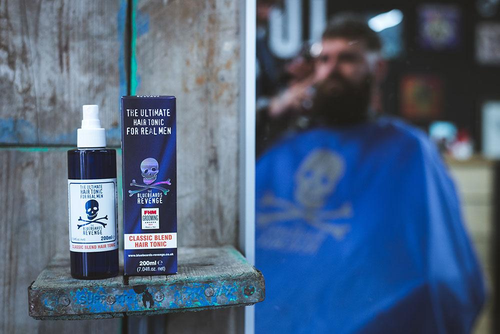 the bluebeards revenge hair tonics in barbershop