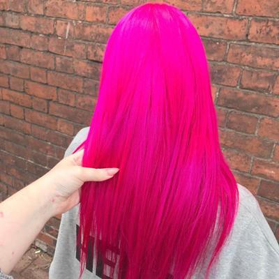 Instagram Hair Colour - fuchsia