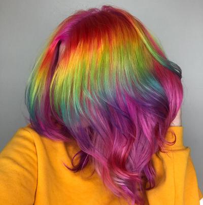 Instagram Hair Colour - rainbow hair