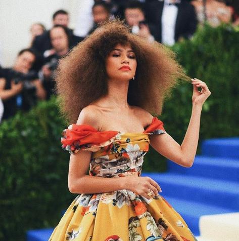 Celebrity hair looks zendaya