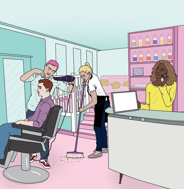 hairdressing wages