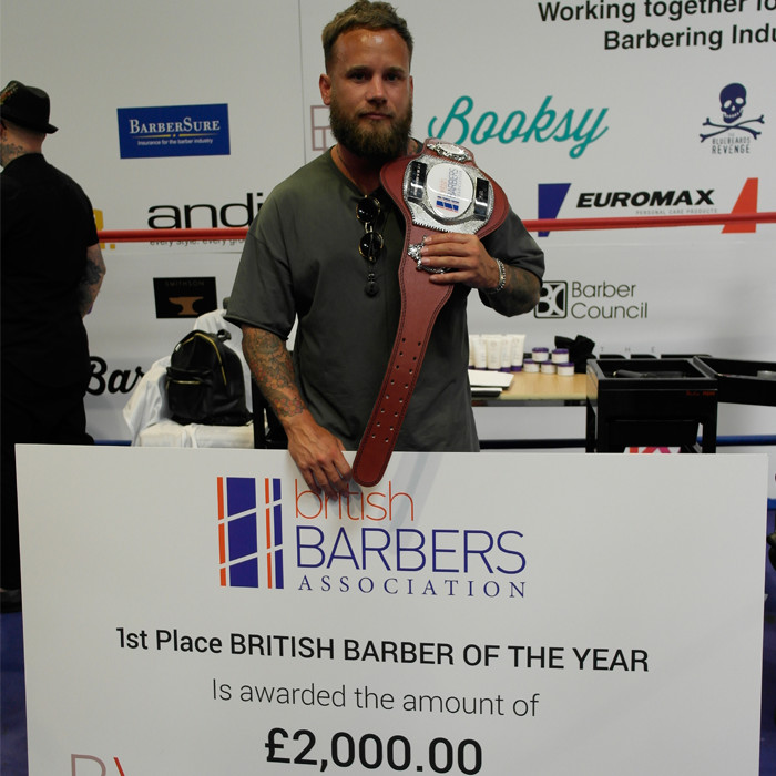 British Barber Association Barber of the year 2018 winner Jay Kizito Byrne