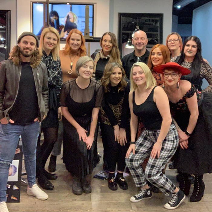 The Fellowship for British Hairdressing 2019 Colour Project Team