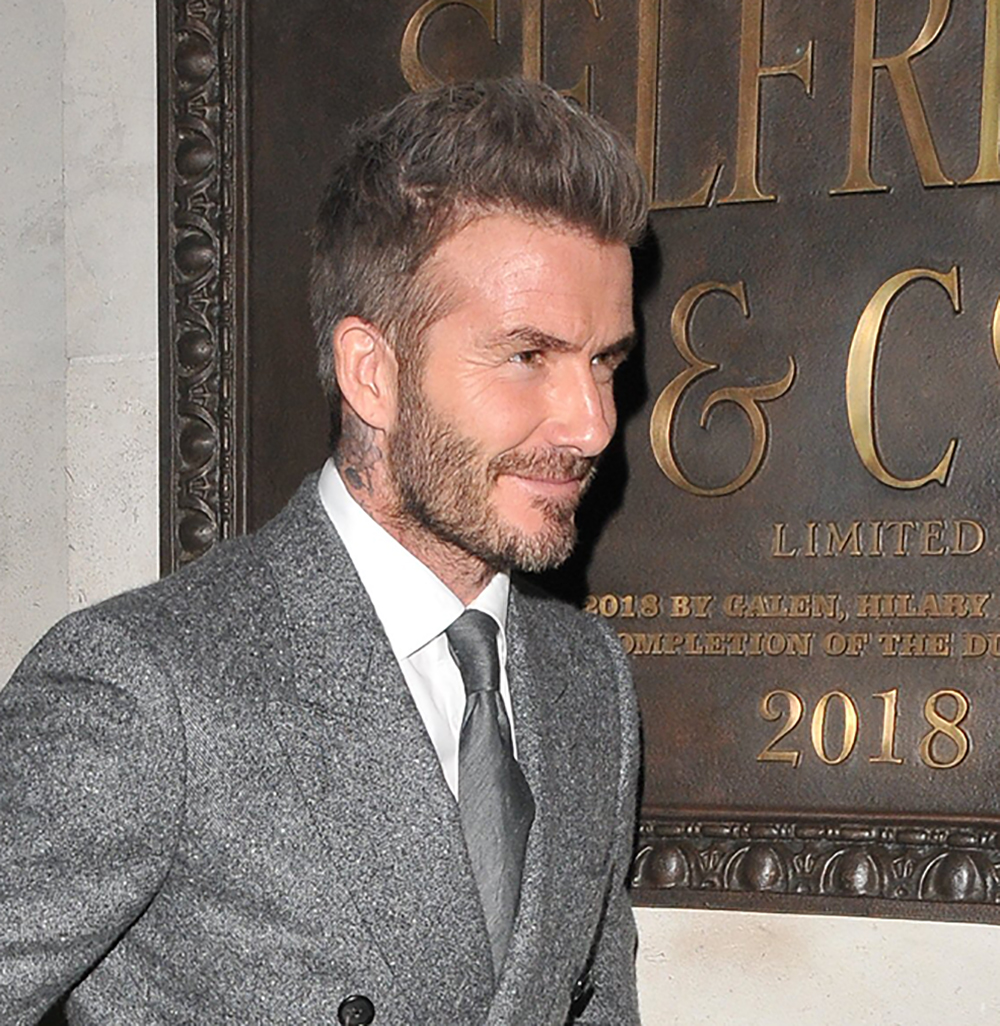 david Beckham grey hair
