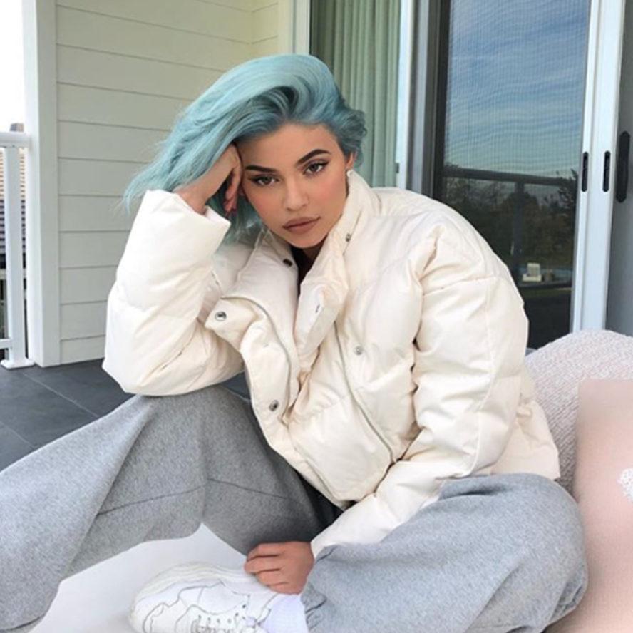 Kylie Jenner blue hair trend