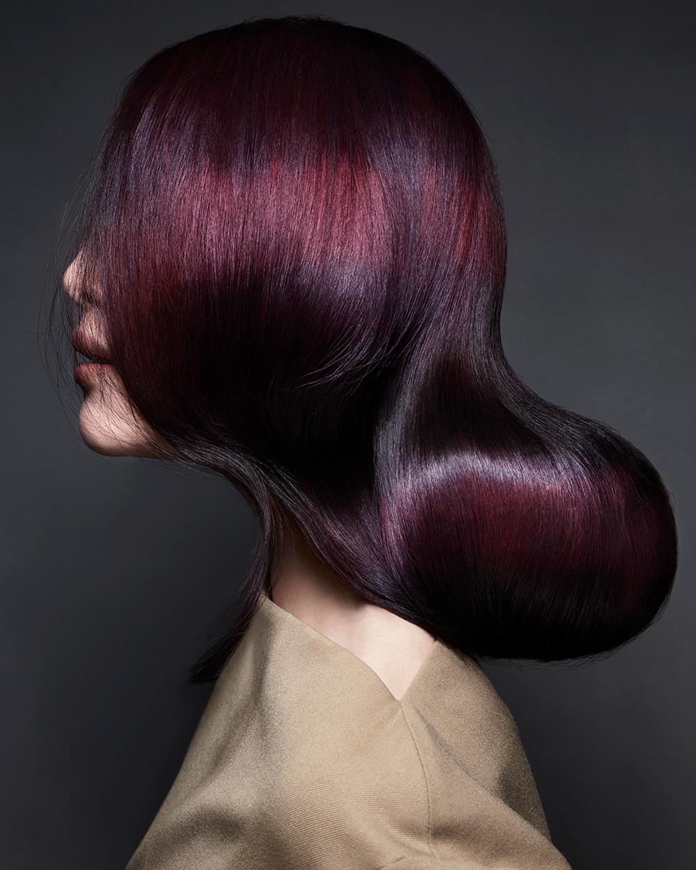 blackberry rush brunette hair